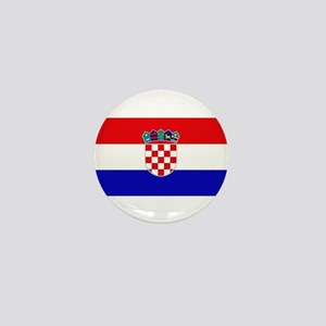 Croatian Flag Mini Button